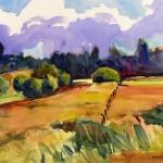 """Autumn Fields13.5"""" x 21""""(mat) $175"""