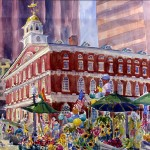 Faneuil Hall MarketplaceWatercolor Available as Giclee Print
