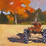 "Farmyard ShadowOil on Panel, 18"" x 18"""