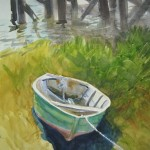 "The Green SkiffWatercolor, 14"" x 21"""