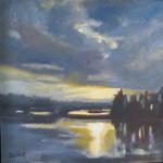 """Little Harbor SunsetOil on Linen, 10"""" x 10""""SOLD"""