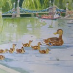 "Make Way for Ducklings12"" x 18""(mat) $175"