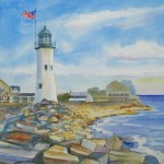 "Scituate LightWatercolor, 14"" x 21""SOLD"