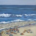"""Beach RocksOil on Canvas, 12"""" x 12"""""""