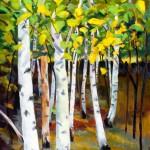 "Birch GroveOil on Canvas, 24"" x 30"""