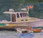 "Lobster Boat 8"" x 15"""