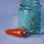 "Pickle PepperOil on Board, 10"" x 8"""