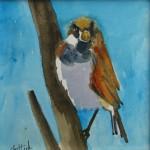 "Blue BirdWatercolor, 6"" x 6"""